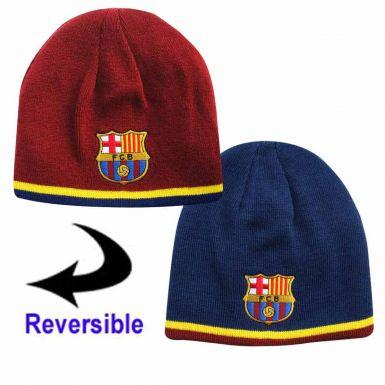 FC Barcelona Reversible Beanie Hat