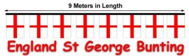 England St George Flag Bunting