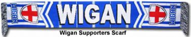 Wigan Scarf Wigan Athletic Official Crest Scarf