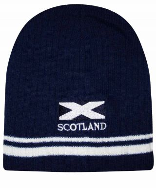 Scotland Saltire Flag Beanie Hat