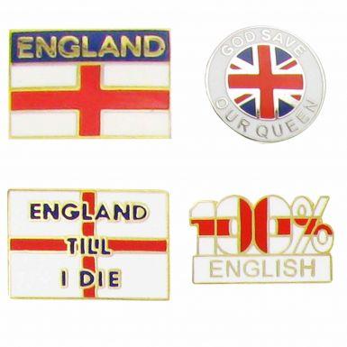 England Flag Pin Badge Set