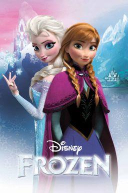 Disney Frozen Anna & Elsa Bedroom Wall Poster