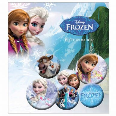 Disney Frozen Anna & Elsa Button Badge Set