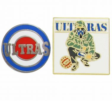 Crystal Palace ULTRAS Football Hooligans Pin Badge Set