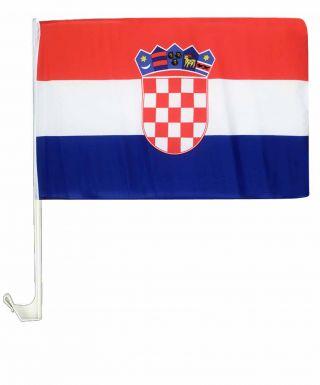 Croatia National Car Flag