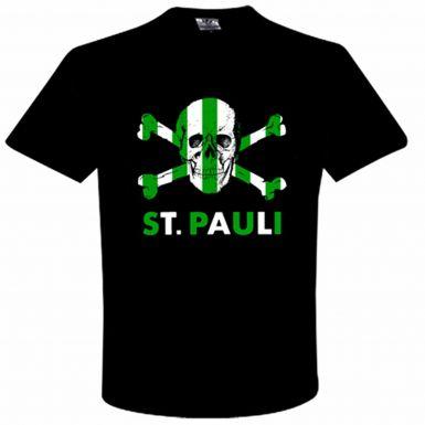 St Pauli & Celtic Skull & Crossbones T-Shirt