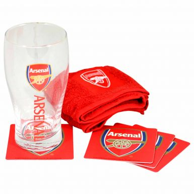 Arsenal FC Pint Glass Mini Bar Set