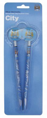 Manchester City Pencils with Toppers Set
