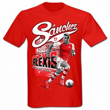 Alexis Sanchez Arsenal FC & Chile Football T-Shirt