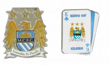 Manchester City Crest Badge Set