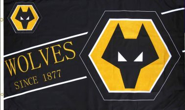 Wolverhampton Wanderers Wolves Football Crest Flag