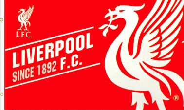 Liverpool FC Flag Official Liverpool Football Crest Flag Banner