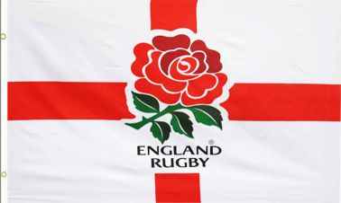 Rugby Six Nations England Rugby RFU Crest Flag