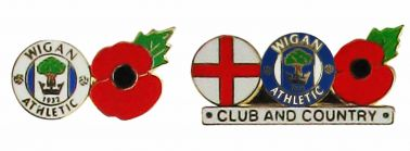Wigan Athletic Poppy Badge Set
