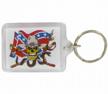 Confederate USA Rebel Picture Keyring