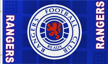 Rangers FC Football Crest Flag