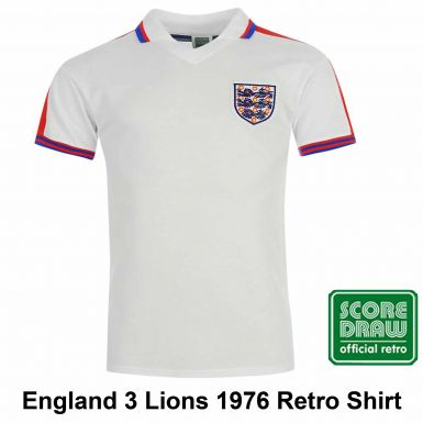 England 1976 Classic Retro Shirt by Scoredraw