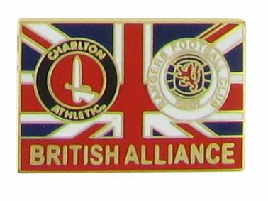 Charlton & Rangers British Alliance Pin Badge