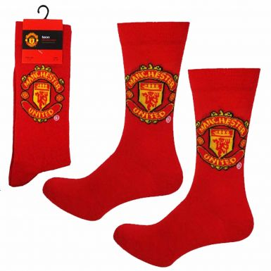Manchester United Football Crest Socks