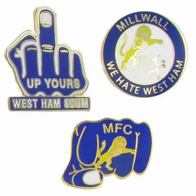 Millwall Hate West Ham Pin Badges