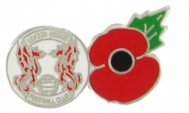 Leyton Orient & Poppy Pin Badge