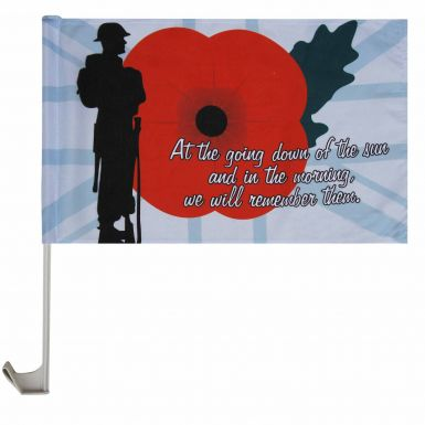 Lone Soldier Poppy Remembrance Car Flag