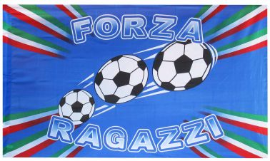 Italy Forza Ragazzi Football Flag