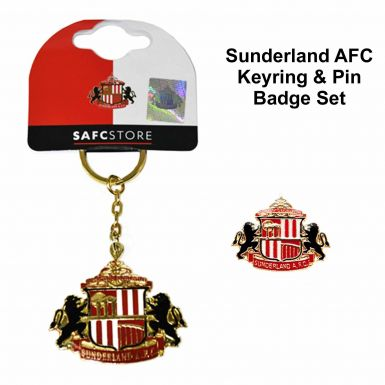Sunderland AFC Keyring & Badge Set
