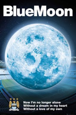 Manchester City Blue Moon Poster