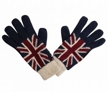 Union Jack Knitted Gloves
