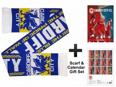 Cardiff City 2015 Calendar & Scarf Gift Set