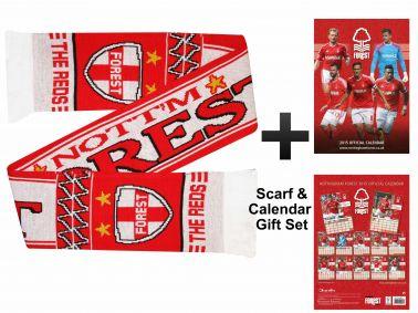 Nottingham Forest 2015 Calendar & Scarf Gift Set