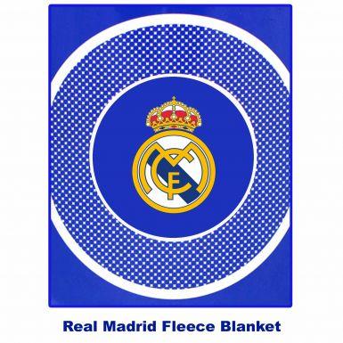 Real Madrid Crest Fleece Blanket