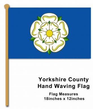 Yorkshire County Hand Waving Flag