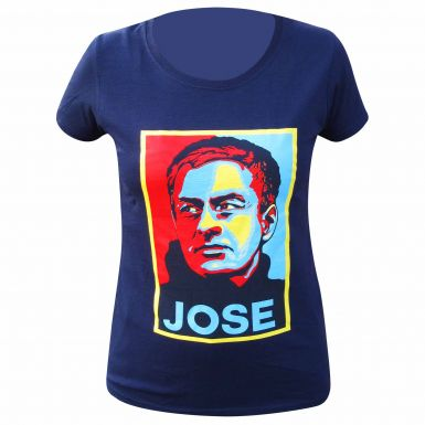 Ladies Jose Mourinho Pop Art Print Skinny Fit T-Shirt