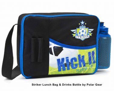 Soccer Striker Lunch Bag & Drinks Bottle by Polar Gear