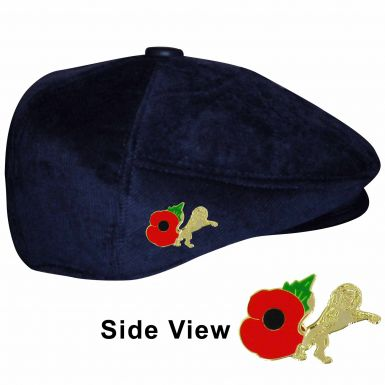 Millwall Poppy Crest Flat Cap