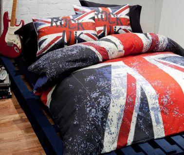 Union Jack Rock UK Reversible Double Duvet Cover Set