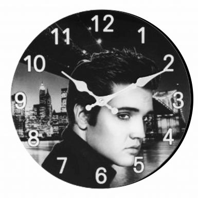 Elvis Presley Portrait Clock