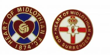 Hearts FC No Surrender Badge Set