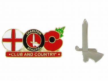 Charlton Athletic Poppy Club & Country Badge Set