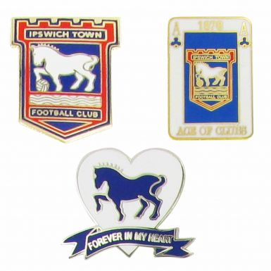 Ipswich Town Pin Badge Set