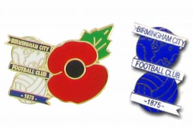 Birmingham City Poppy Badge Set