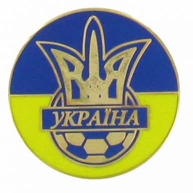 Ukraine Football Crest Pin Badge