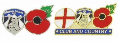 Oldham Athletic Crest Poppy Badge Set