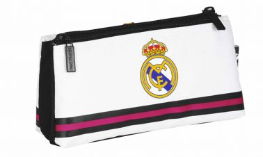 Real Madrid Crest Twin Pocket Pencil Case