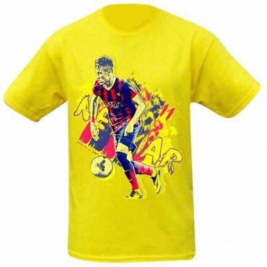 Barcelona & Brazil NEYMAR Jnr Kids T-Shirt