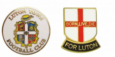 Luton Town Crest Pin Badge Set