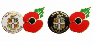 Luton Town Poppy Badge Set