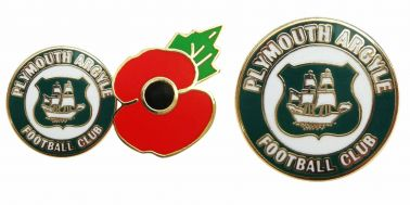 Plymouth Argyle Poppy Badge Set